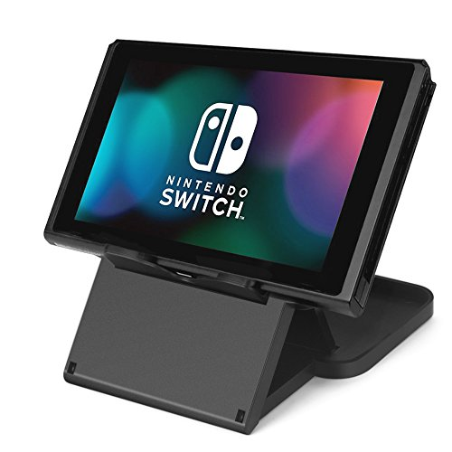 Price comparison product image TNP Nintendo Switch Stand - Compact Foldable Multi Angle Playstand Play Stand Holder for Nintendo Switch Black