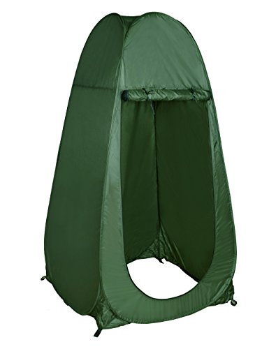 TMS Portable Outdoor Green Pop Up Tent Camping - Portable Toilet Tent