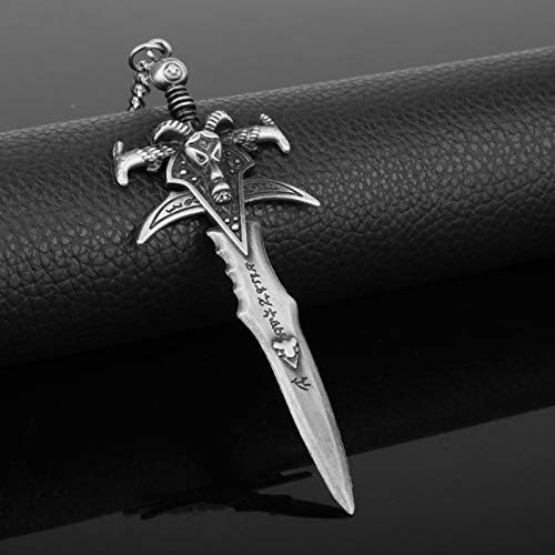 Wow Game World Of Warcrafts Keychain The Lich King Frostmourne Sword Weapon Dagger Metal Figures Keychain Key Ring