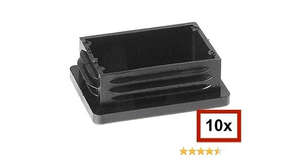 todos los tama/ños seleccionables Tapones de tubo rectangulares protectores para muebles Negro 10 unidades 20 x 10 mm hasta 180 x 60 mm tapones rectangulares