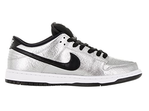 Nike Herren Dunk Low Premium Ankle-High Leder Fashion Sneaker Silber