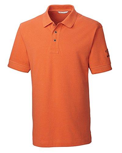 [Cutter & Buck BCK08972 Mens Tour Logo Pique Polo, Fiery Orange-4XT] (Cutter Buck Logo Shirts)