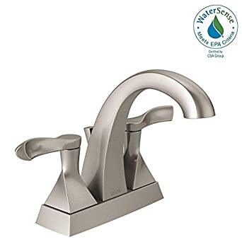 Delta Everly 4 In Centerset 2 Handle Bathroom Faucet In Spotshield Brushed Nickel