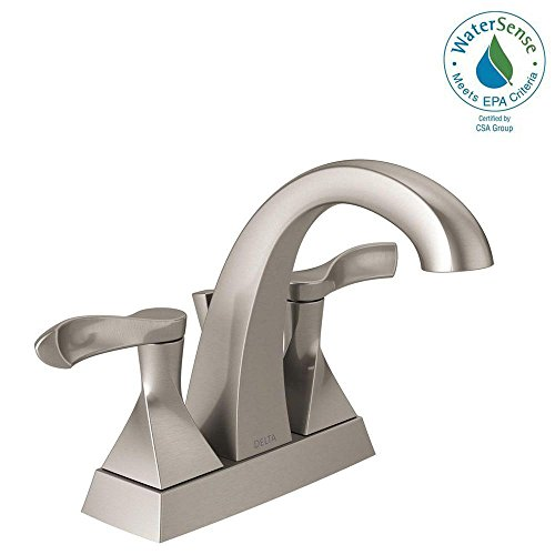 Delta Everly 4 in. Centerset 2-Handle Bathroom Faucet in SpotShield Brushed Nickel