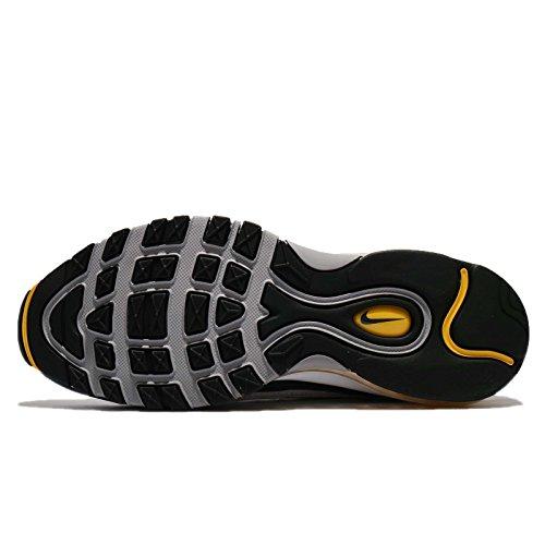 Nike Mens Air Max 98, Bianco / Tour Giallo / Blu Scuro / Giro Giallo / Blu Marino