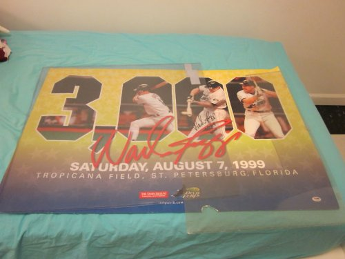 1999 Wade Boggs 3000th Hit Autographed Poster PSA/DNA
