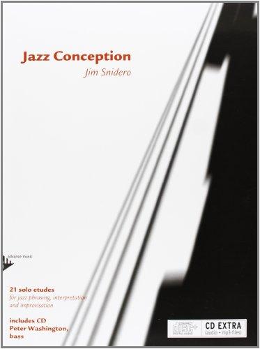 - Jazz Conception -- Bass: 21 Solo Etudes for Jazz Phrasing, Interpretation, and Improvisation (English/French/German Language Edition) (Book & MP3 CD)