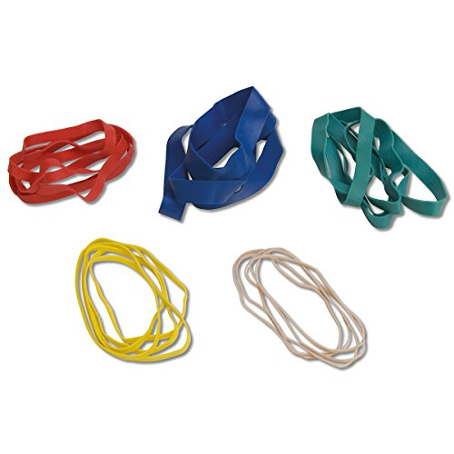 CanDo 10-1855 Hand Exerciser, Additional Latex Free Bands, 5 Pack (Additional Latex Free Bands)