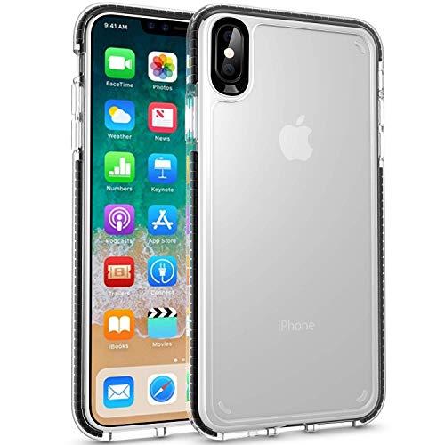 Anti Cover Protective Slip (iPhone Xs Max Case,WATACHE Slim Fit Crystal Clear Soft Durable Flexible TPU Rubber Skin Silicone Anti-Slip Protective Case Cover for Apple iPhone Xs Max (6.5