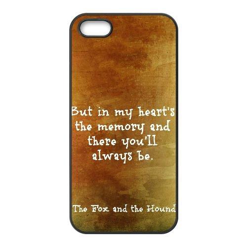 Fox And The Hound 008 coque iPhone 5 5S Housse téléphone Noir de couverture de cas coque EOKXLLNCD09241