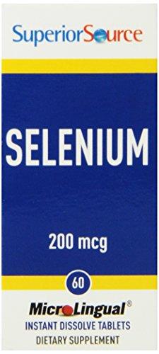 Superior fuente de suplementos nutricionales de selenio, 200 mcg, cuenta 60
