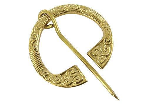 Celtic Brass Handcrafted Triskeles Brooch