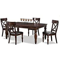 Intercon Kingston 5 Pc Dining Set (42 x 72-90 18 Bfly Lf)
