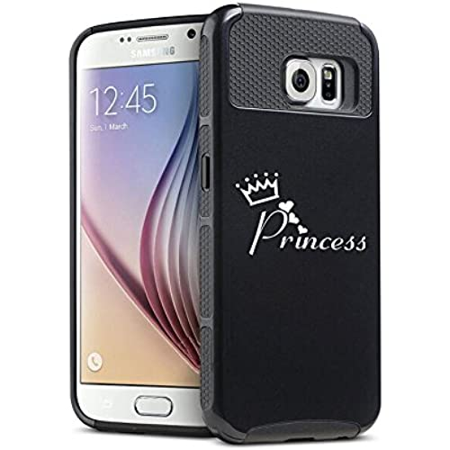 Samsung Galaxy S7 Edge Shockproof Impact Hard Case Cover Princess with Crown (Black ) Sales