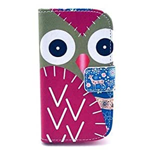 Owl Deer Pattern PU Leahter Full Body Cover with Stand and Card Slot for Samsung Galaxy Trend Plus S7580/S7562