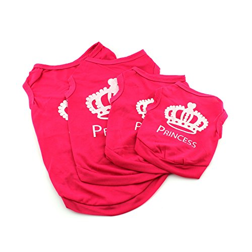 Pet Vest Puppy Summer Clothes Dog Cat T Shirt Princess Outfit Apparel Costume pink (Cat And Laser Pointer Costume)