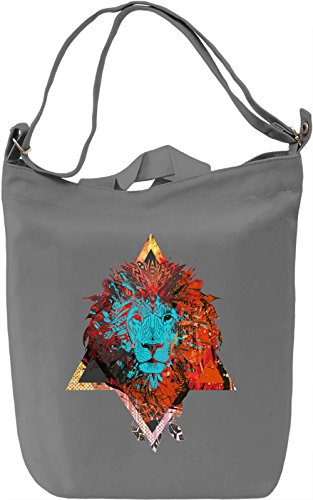 Jungle KIng Borsa Giornaliera Canvas Canvas Day Bag| 100% Premium Cotton Canvas| DTG Printing|