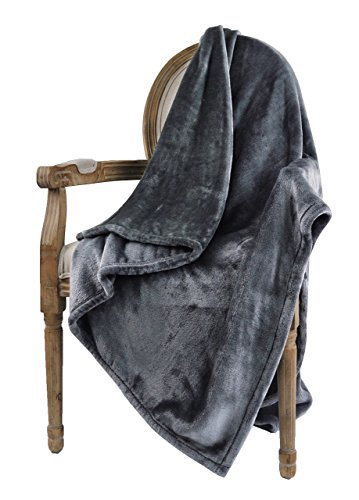 "Bertte Microfiber Throw Flannel Fall utra-Cozy Warm Lightweight FleeceThrow for Couch Decorative Plaid Pattern Blanket, (50""x 60""), Dark Grey - 【Super Soft & Cozy】:Our velvet blanket is made of 100% high quality lightweight breathable microfiber for incredible soft and luxurious touch. Cuddle up in warm with this soft fleece blanket for ultimate comfort while enjoying happy time. 【Versatile Usages】:Blanket Size: 50""x60"". Fluffy as cloud and suitable for all seasons. Our bed throw blanket is lightweight and warm enough for snugging and ideal to wrap you in that make you feel cozy and warm. Perfect for couch, sofa, toddler and outdoor use, especially for traveling, camping and picnic. It is hypoallergenic for adult and kids. Great gift idea for your family and friends on any occasion. 【Classic Decor】:Rich design and Elegant high sheen look with plaid pattern make the plush blanket easily coordinate with your home decor and turns your home into a stylish place. Drape in over a sofa, couch, chair or across the end of beds to add extra luxury texture to your living room or bed room. - blankets-throws, bedroom-sheets-comforters, bedroom - 41VN0rHLsmL -"