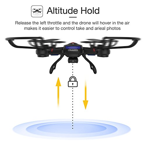 Holy Stone F181W Wifi FPV Drone with 720P Wide-Angle HD Camera Live Video RC Quadcopter with Altitude Hold, Gravity Sensor Function, RTF and Easy to Fly for Beginner, Compatible with VR Headset by Holy Stone (Image #4)