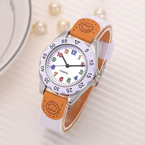 Fashion Children Kids Arabic Numbers Nylon Band Wristwatch Analog Quartz Watch Wrist Studens Watches by Gaweb (Image #6)