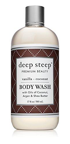 Deep Steep Coconut Oil Body Wash, Vanilla, 17 Fluid Ounce