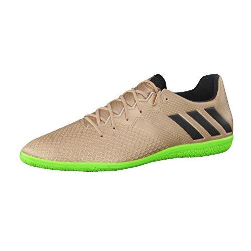 adidas Herren Fussballschuhe MESSI 16.3 IN COPPMT/CBLACK/SGREEN 41 1/3