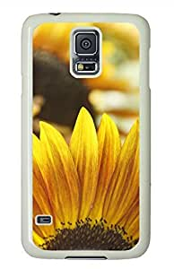 S5 Case, Galaxy S5 Case - Brian114 Sunflowers 2023 White Hard Case Cover for Samsung Galaxy S5 I9600 Cover by mcsharks