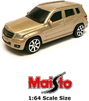Gold Mercedes-Benz GLK Class 350 4Matic X204 Maisto 1:64 11744 3 inch Toy Car