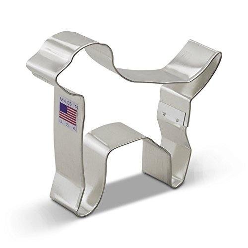 Dog Shaped Cookie Cutters (Ann Clark Labrador Dog Cookie Cutter - 4.25 Inches - Tin Plated Steel)