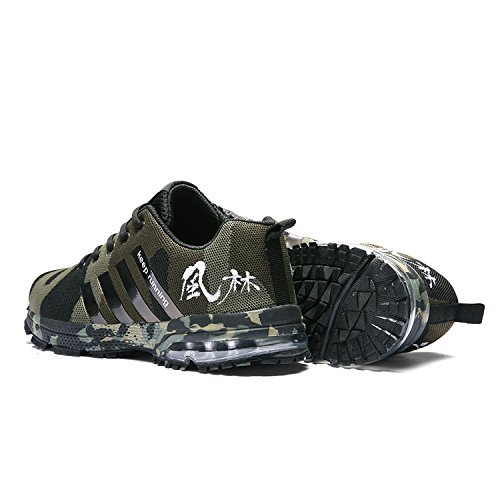 Kuako Vert Trainers Gym Baskets Air De Hommes Sports Walk Camouflage Course Jogging Fitness Athltique Casual Femmes Chaussures rY4prnqa
