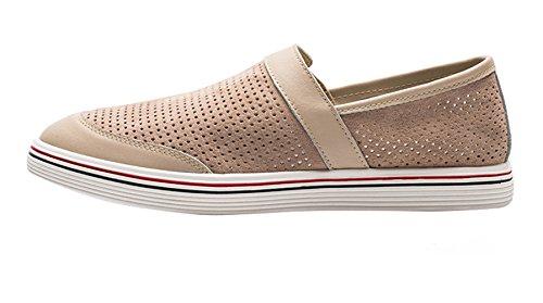 Mocassini Nero Loafers Uomo Beige Casuale SK di Pelle Guida Scarpe Slip On da Studio Barca Eleganti Scarpe da PwwqT45v