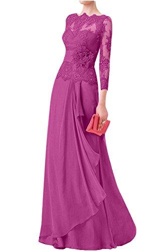 b8b8de3a4875 La mia Braut Damen Spitze Langarm Brautmutterkleider Abendkleider  Abschlussballkleider Etuikleider Neu Pink eSGxBgmC