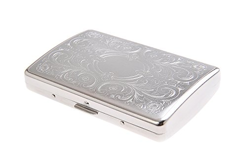 Quantum Abacus Cigarette Case made of zinc alloy, timeless elegance, holds 20 slim and super slim cigarettes (100mm / 3 3/4 inches), or 16 normal ones, Mod. 791-03 (US)