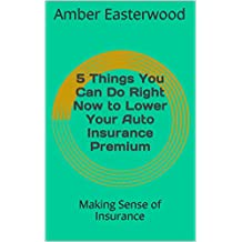 5 Things You Can Do Right Now to Lower Your Auto Insurance Premium: Making Sense of Insurance (Making Sense of Insurance Blog Post Book 3)