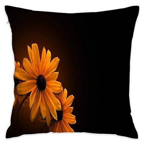 Wbsdfken Black Eyed Susans Cotton Linen Square Throw Pillow Case Decorative Cushion Cover Pillowcase Sofa (1818 inch) (Susan Throw)