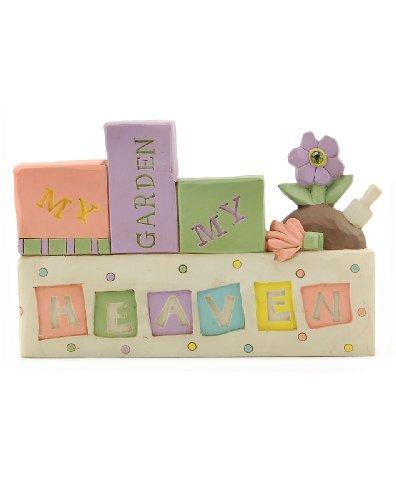 'My Garden My Heaven' Block with Flowers