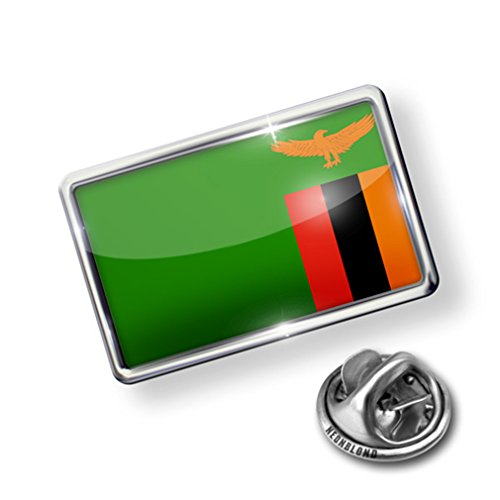 nice Pin Zambia Flag - Lapel Badge - NEONBLOND hot sale