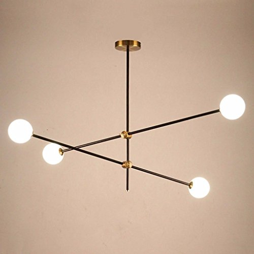 Lámpara de techoLámparas de alumbrado de alubia mágica, lámparas de araña modernas y la moda creativa de Glass Lounge...