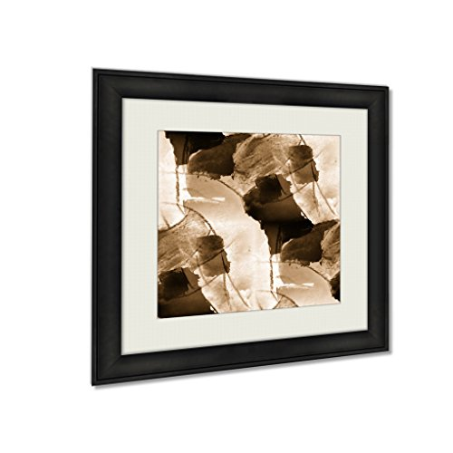 Ashley Framed Prints Design Yellow Red Watercolor Abstra, Wall Art Home Decor, Sepia, 30x30 (frame size), AG6572455 by Ashley Framed Prints