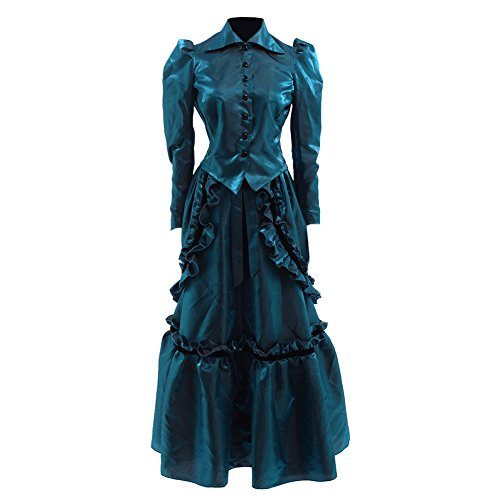 GRACEART Steampunk Edwardian Dress Gown Jacket and Skirt Suits With Bustle - Edwardian Steampunk