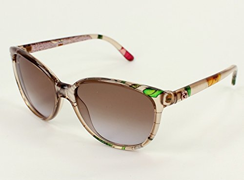 Gucci Women's Gradient Crystal, Mix Frame/Gradient Brown Lens Non-Polarized Sunglasses 55 - Sunglasses Crystal Gucci