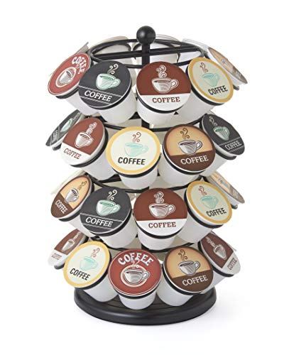 NIFTY 5636B Storage Carousel. Coffee Pod Stores up to 36 Packs K-Cup Holder Capacity, Black by NIFTY