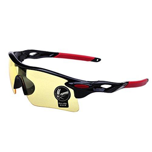 amarillo + rojo iDealhere Moda deportes al aire libre Ciclismo para bicicleta Pesca Gafas Gafas de conducci/ón gafas de sol