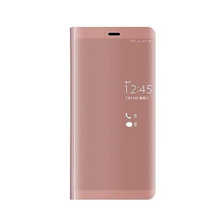 Anfire-ES Funda Huawei P9 Plus, Carcasa de Espejo Flip Piel ...