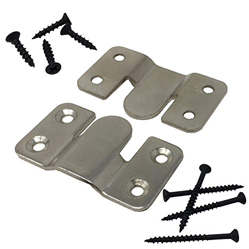 Interlocking Z Clips for Flush Mounting Pictures, Head Boards, Wall Panels - 5 Sets