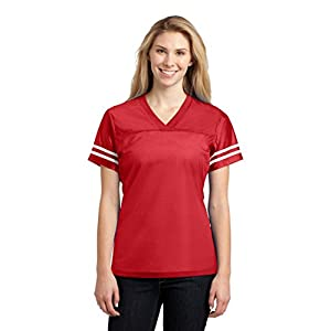 Sport-Tek Women's PosiCharge Replica Jersey L True Red/ White