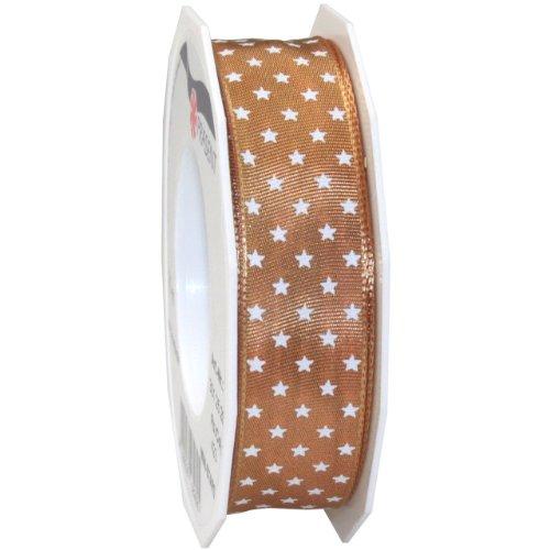 Morex Ribbon Wired Mini Star Ribbon, 1-Inch by 22-Yard, Gold