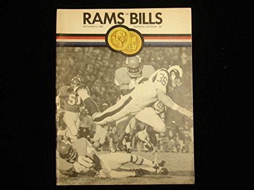 September 6, 1969 Los Angeles Rams vs. Buffalo Bills NFL Football Program