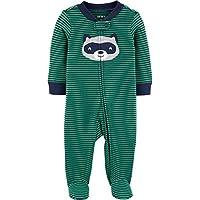 Macacão Pijama Carter's verde Listrado urso