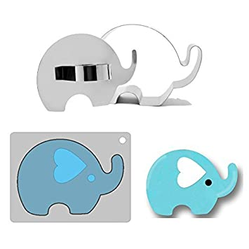 Efivs Arts - Cortador y molde de acero inoxidable con un diseño creativo de elefante para galletas, para fondant, para mousse y para tartas: Amazon.es: ...
